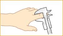 Szyna na palec - pomiar rozmiaru
