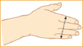 Szyna zgięciowa na palec - pomiar rozmiaru