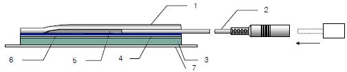 Budowa elektrody CATHAY do elektrostymulacji TENS/EMS
