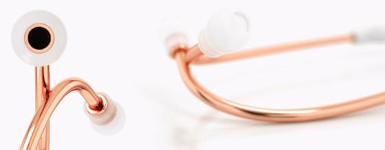 Stetoskop - różowe złoto